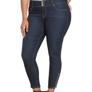 Torrid Stiletto Zip Ankle Skinny Jeans